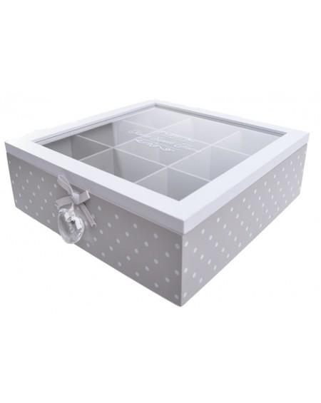 Pudełko na herbatę z akrylowym sercem
