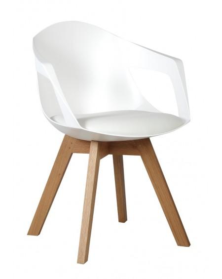 Krzesło Holey Arm poduszka biała