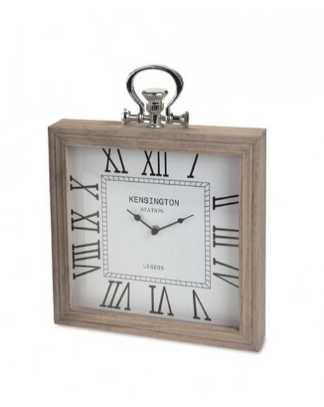 Zegar kominkowy - drewniany
