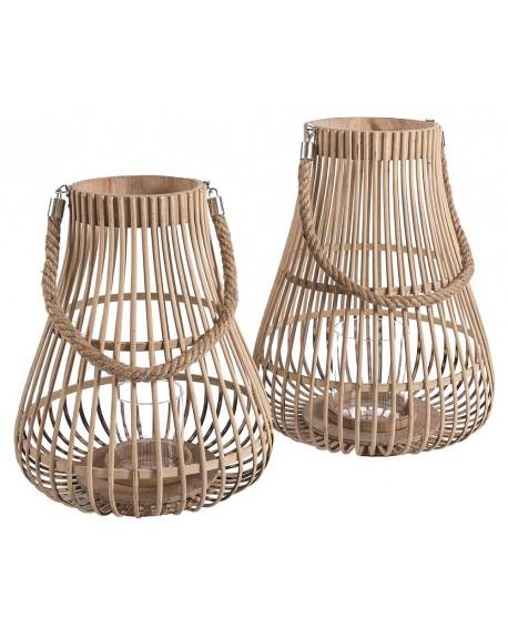 Lampion 2 szt. bambus gruszka