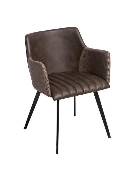 Krzesło Jeff M brązowe