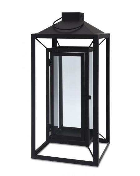 Latarnia lampion czarna metalowa 53 cm