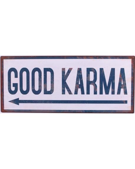 Szyld metalowy Good Karma