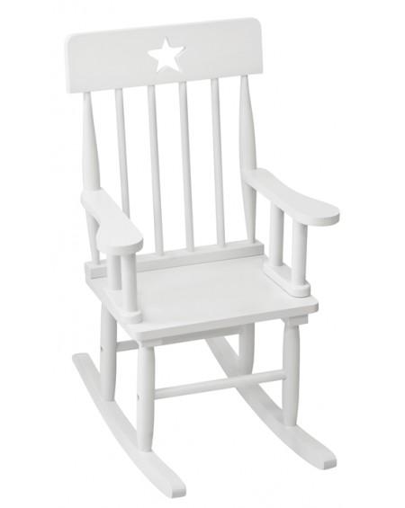 Krzesełko bujane z gwiazdką białe