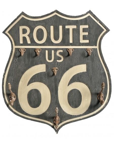 Tabliczka ścienna wieszak Route 66
