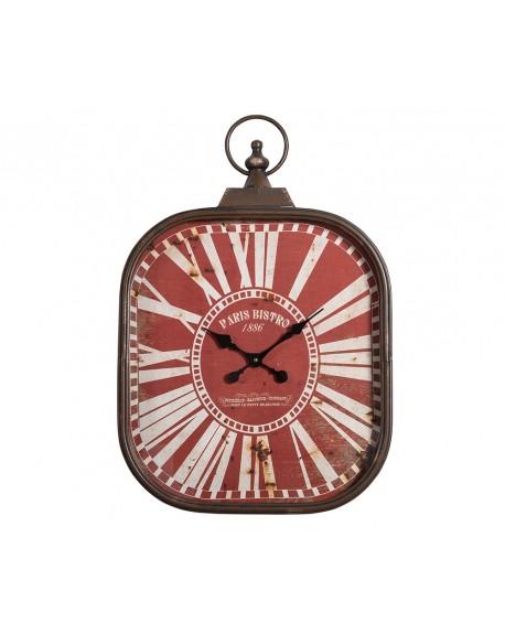 Zegar Paris Bistro czerwony