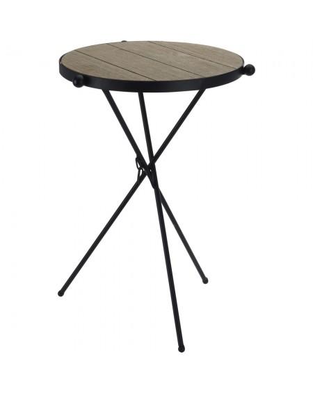 Składany stolik metalowy na 3 nogach