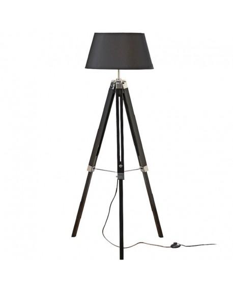 Lampa podłogowa trójnóg czarna 145 cm