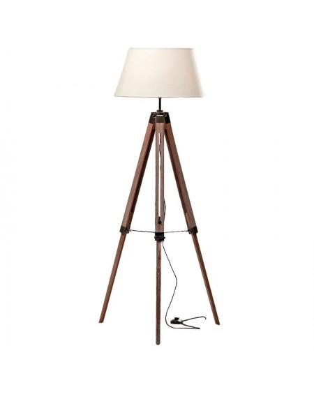 Lampa podłogowa trójnóg brązowa 148 cm
