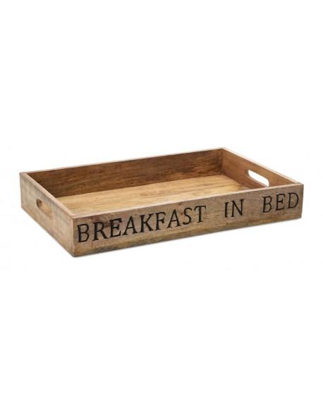 Taca śniadaniowa drewniana 50x32 cm
