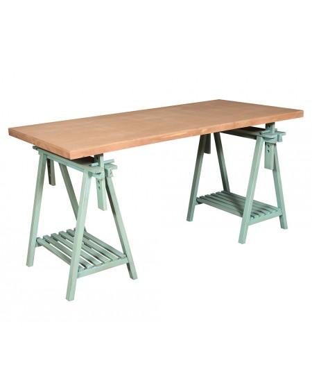 Stół z koziołkami Garden Green 2