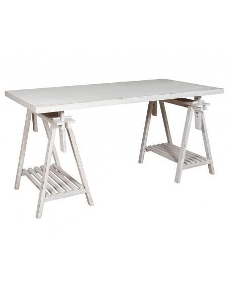 Stół z koziołkami biały