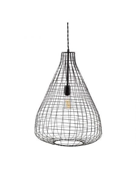 Lampa wisząca z metalowej siatki