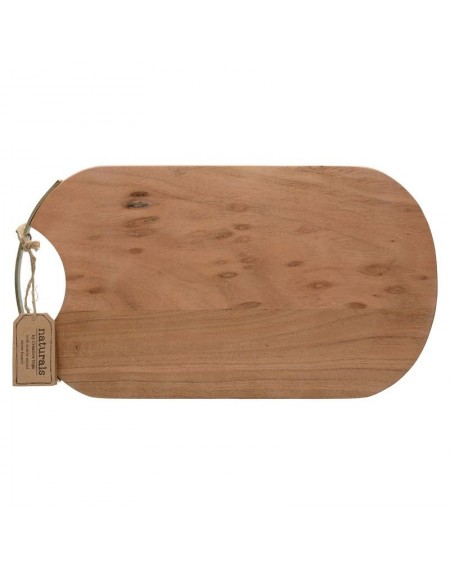 Deska drewniana ze złotym uchwytem