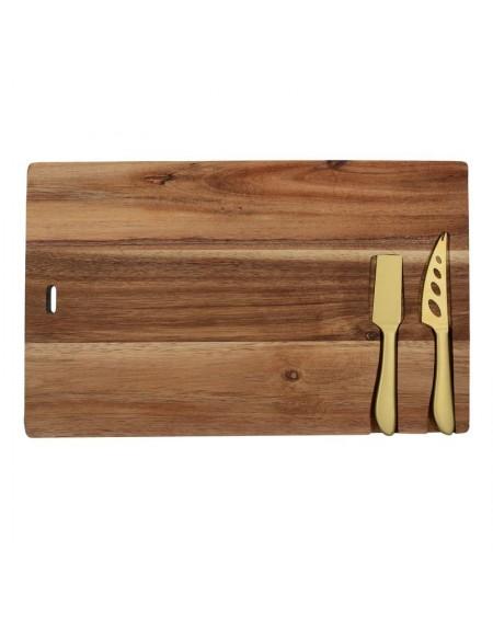 Deska drewiana do serów z nożami