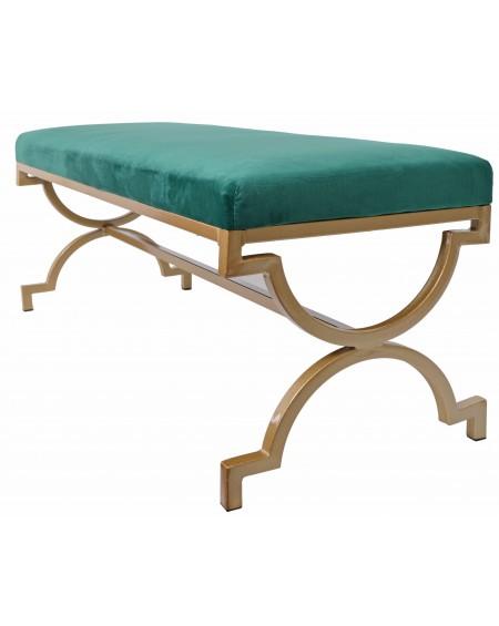Ławka siedzisko z welurowym siedziskiem