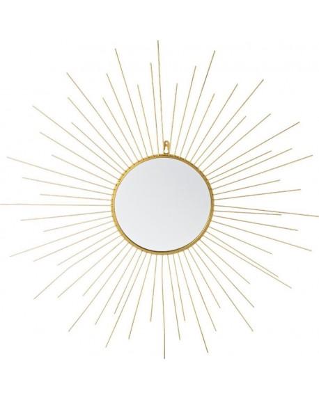 Lustro ścienne złote 66 cm