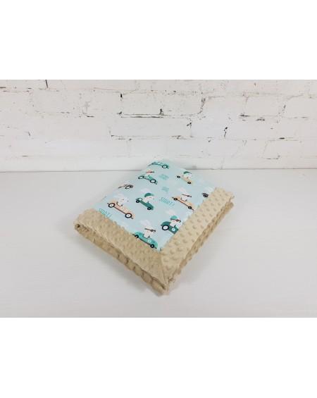 Kocyk Dla Niemowlaka Pędzący Królik 65x75 cm Bleached Sand
