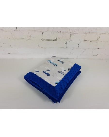 Kocyk Dla Niemowlaka Pędzący Królik 65x75 cm Victoria Blue