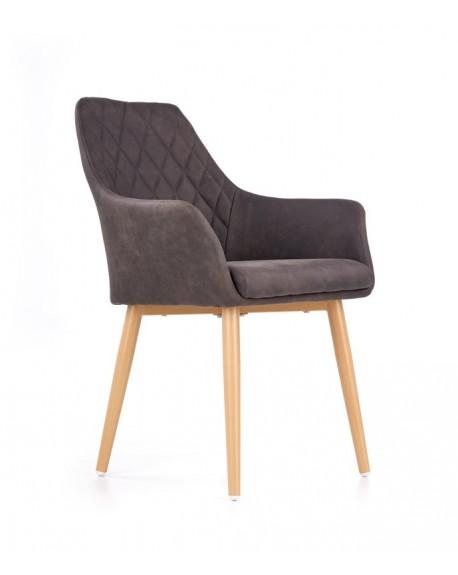 Fotel tapicerowany K287 ciemny brąz