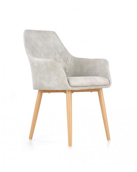 Fotel tapicerowany K287 popiel