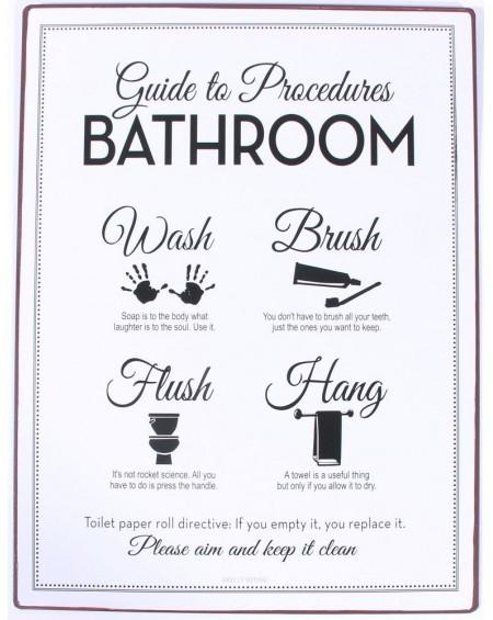 Szyld metalowy Guide to procedures bathroom