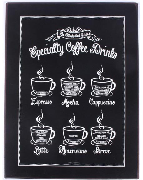 Szyld metalowy Specialty coffee drinks