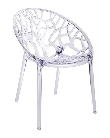 Krzesło CORAL poliwęglan- transparent/smoke