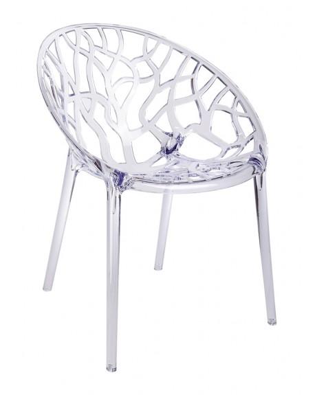 Krzesło CORAL transparentne - poliwęglan
