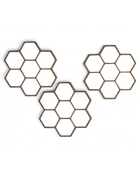 Lustro 3 szt. Honeycomb