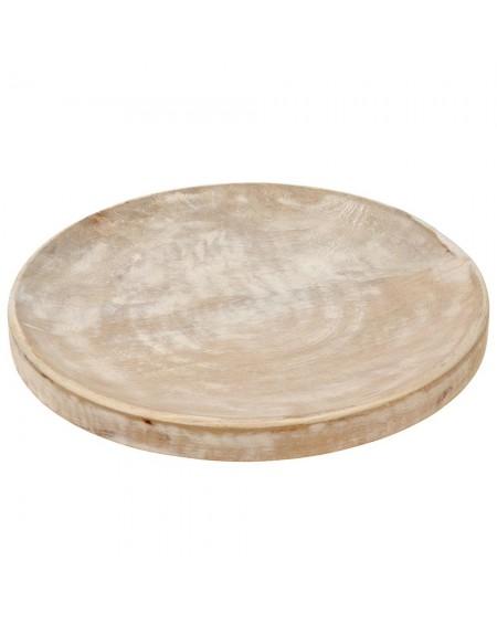 Taca podstawka drewno bielone