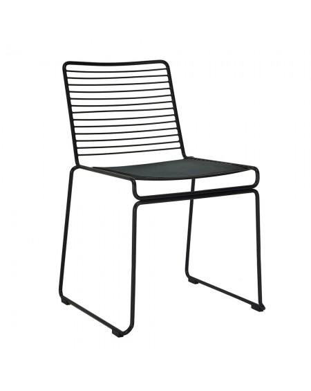 Krzesło ROD SOFT czarne z poduszką
