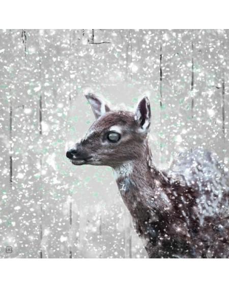 Obraz Młoda Sarna na śniegu