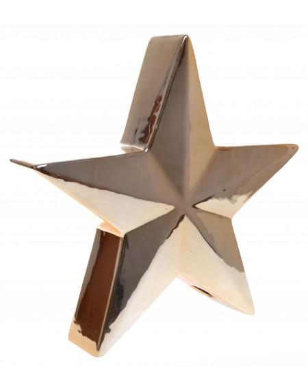 Gwiazda ceramiczna złota