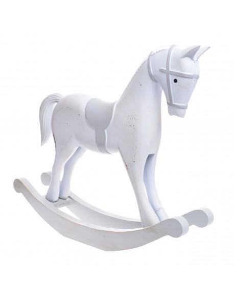 Koń na biegunach duży drewno
