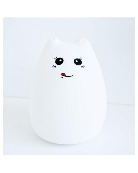 Lampka silikonowa Kotek z języczkiem