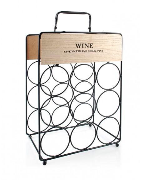 Stojak na wino z uchwytem