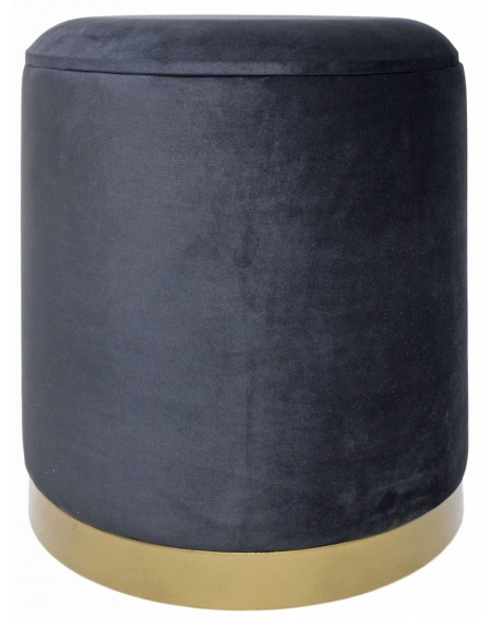Pufa Velvet czarna