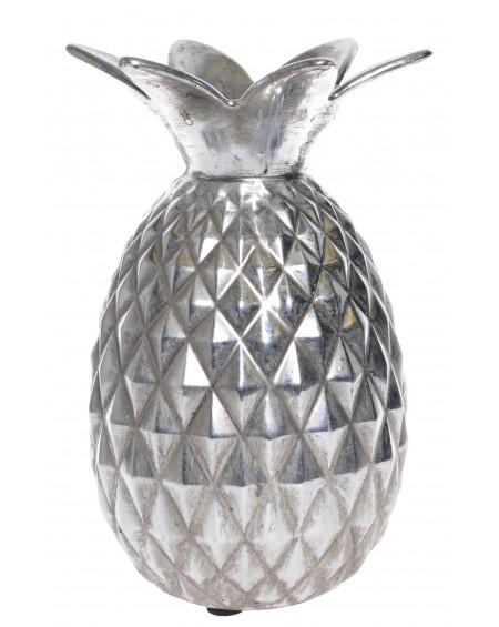 Dekoracja ananas srebrny