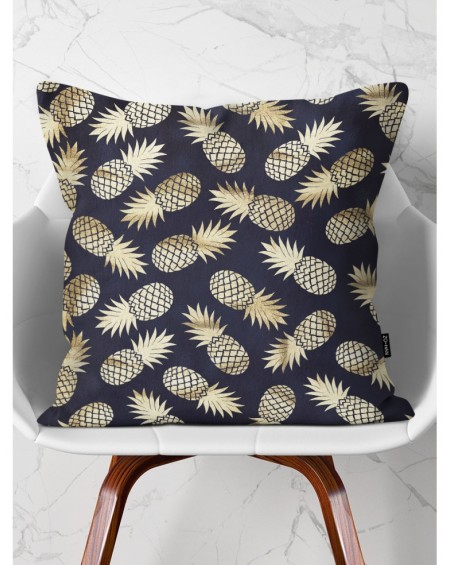 Poduszka dekoracyjna Black Gold Pineapples