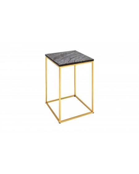 Stolik Nobel czarny marmur - podstawa złota