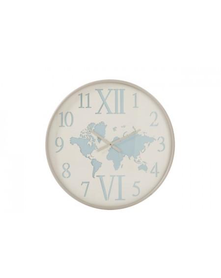 Zegar metalowy Mapa Świata