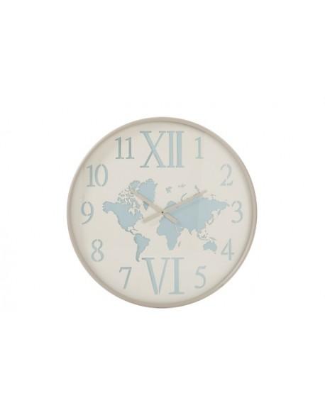 Zegar wiszmetalowy Mapa Świata