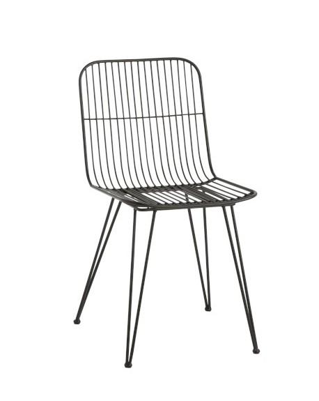 Krzesło metalowe Milazo czarne