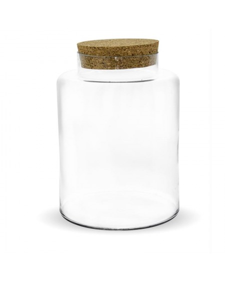 Słój szklany z korkiem
