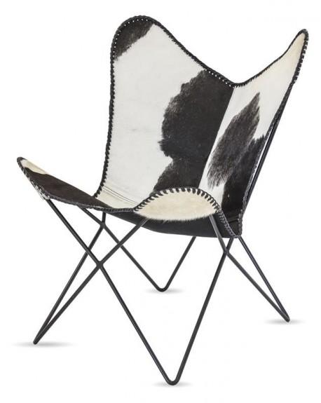 Krzesło fotel Lounge w łaty