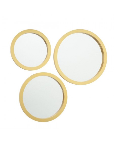 Lustro 3 szt. okrągłe złote