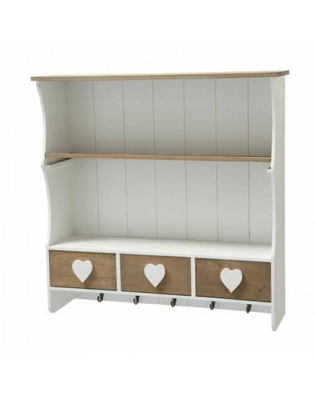 Półka szafka wisząca z sercami