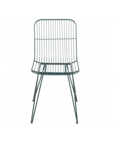 Krzesło metalowe Milazo zielone