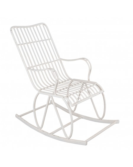Krzesło bujane metalowe